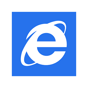 280x280 Internet Explorer Tile Logo Vector Free Download