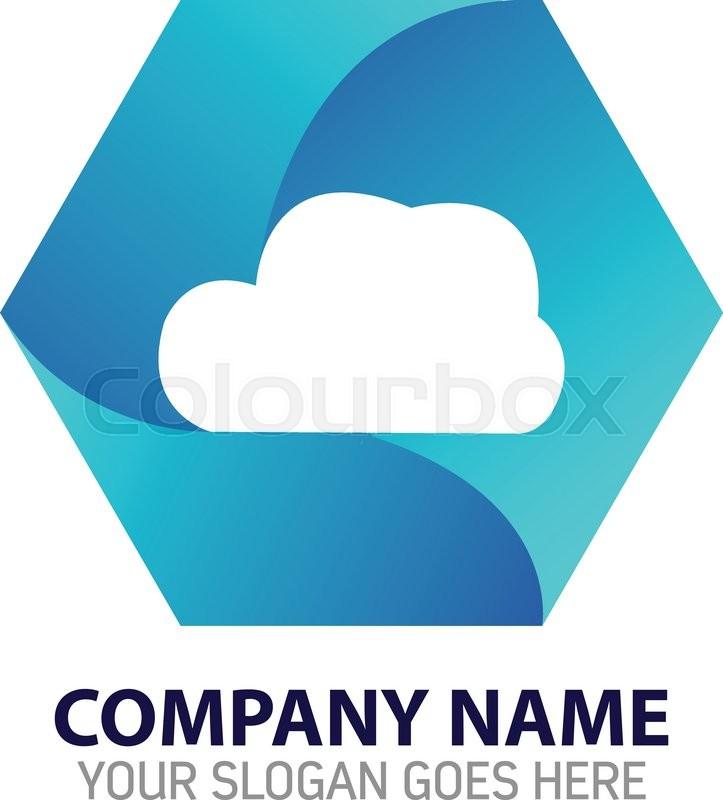 723x800 Vector Design Of Cloud Internet Technology Logo Stock Vector