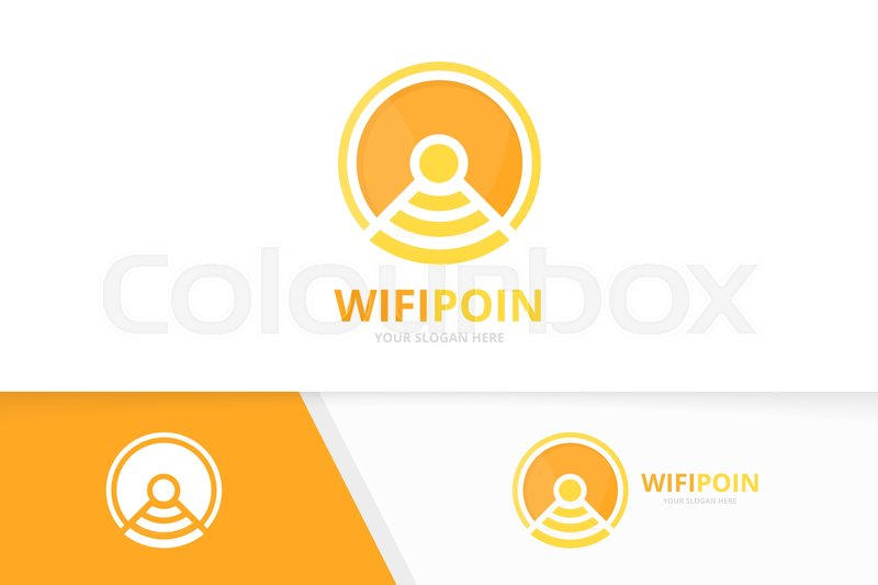 800x533 Vector Coin And Wifi Logo Combination. Money And Signal Symbol Or