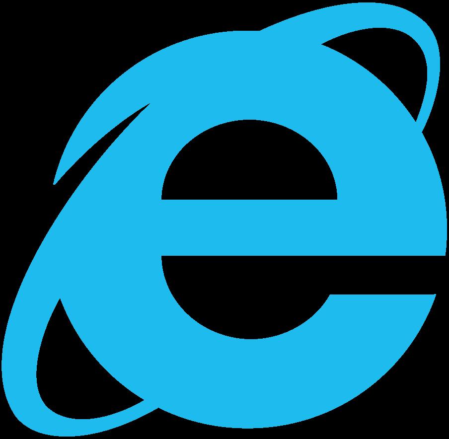 904x884 Internet Explorer Simplistic Logo, Vector By Luchocas