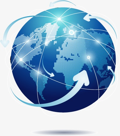413x469 Blue Earth Internet Vector Material, Earth, The Internet, Science