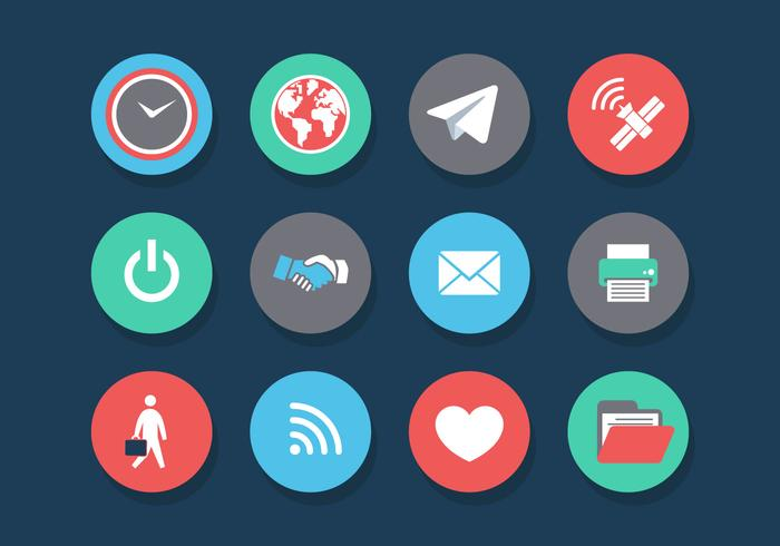700x490 Vector Internet Of Things Icon Set