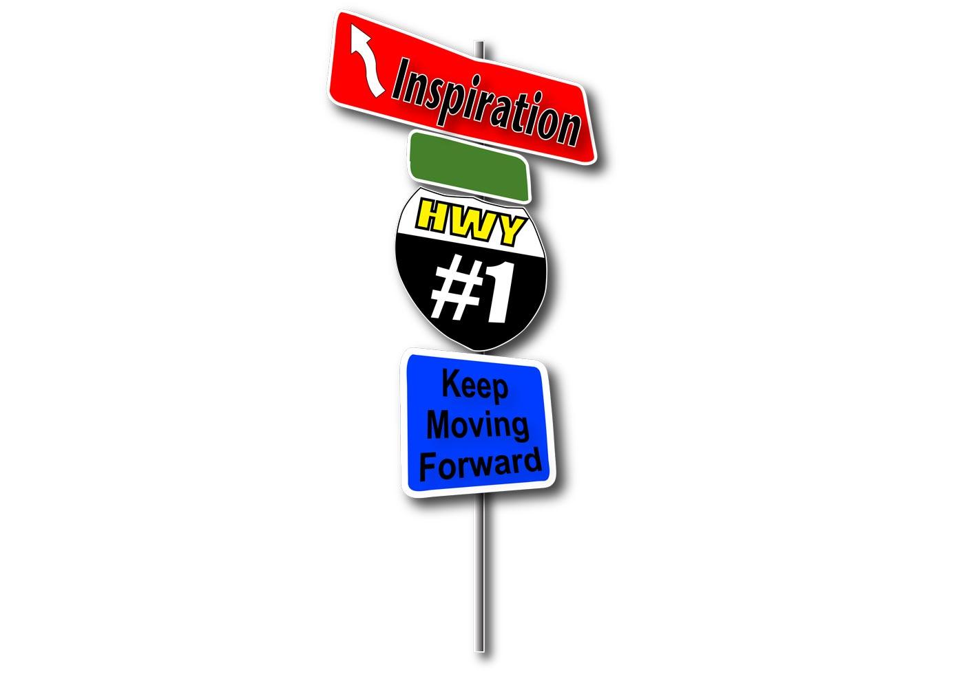 1400x980 Free Highway Sign Vector