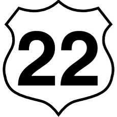 230x230 Highway Sign Vector
