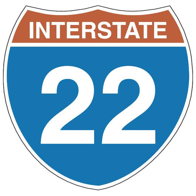 660x660 Interstate Highway Vector Sign