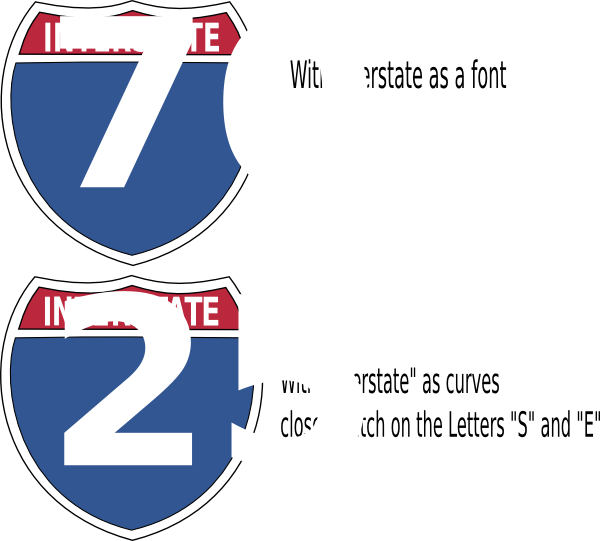 600x541 Interstate Highway Sign Clip Art Free Vector 4vector