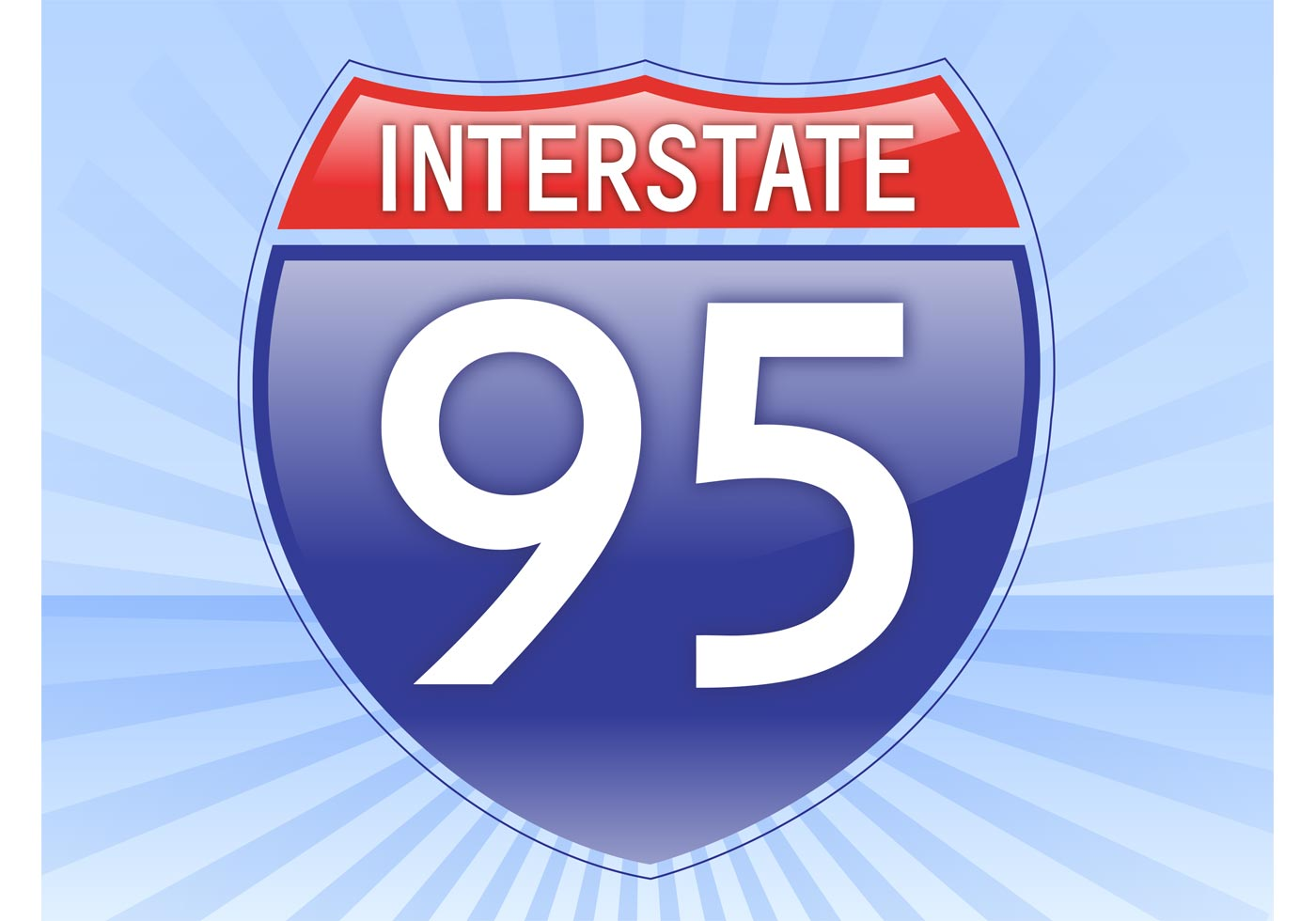 1400x980 Interstate Sign Free Vector Art