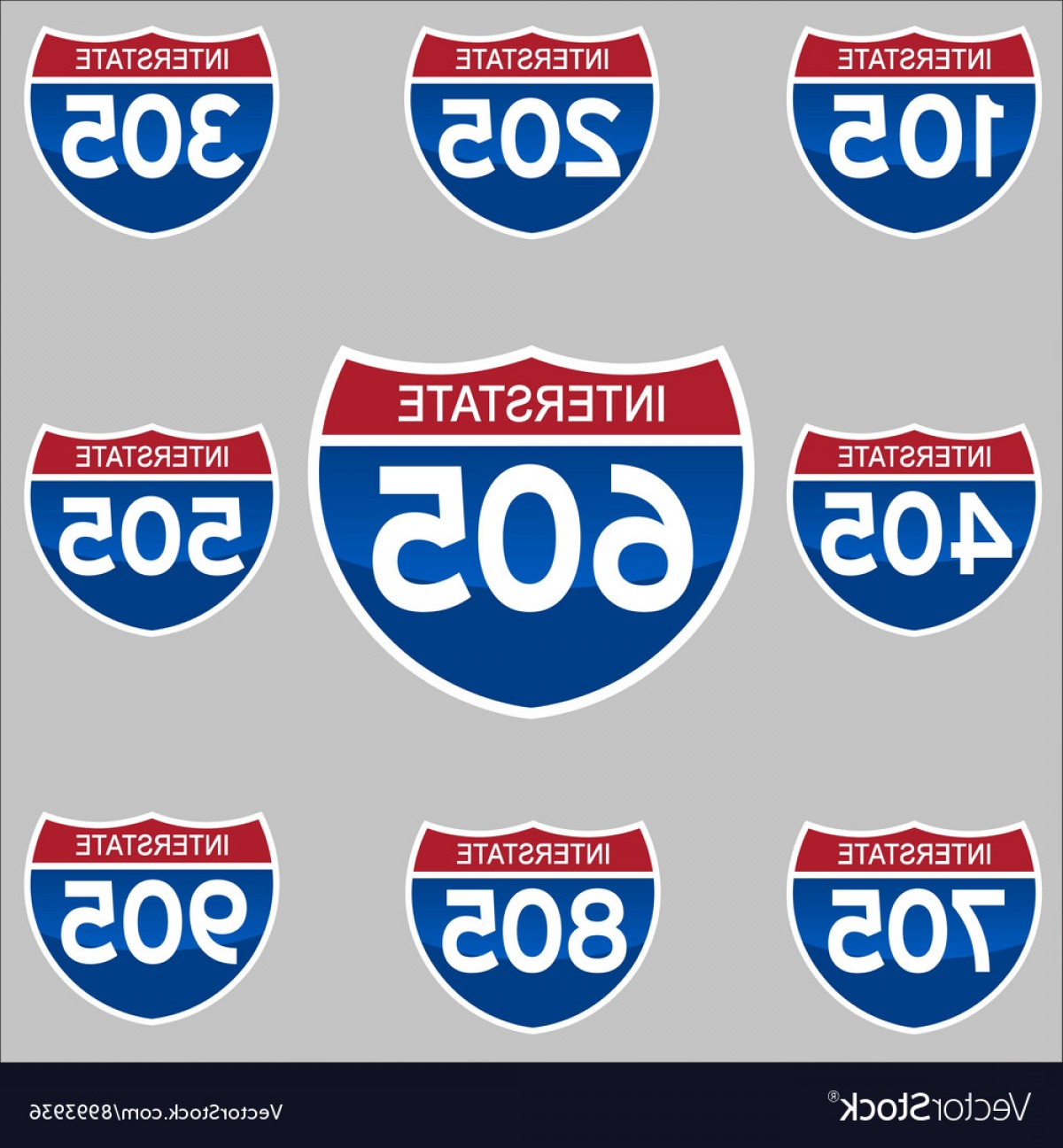 1200x1296 Interstate Signs Vector Rongholland