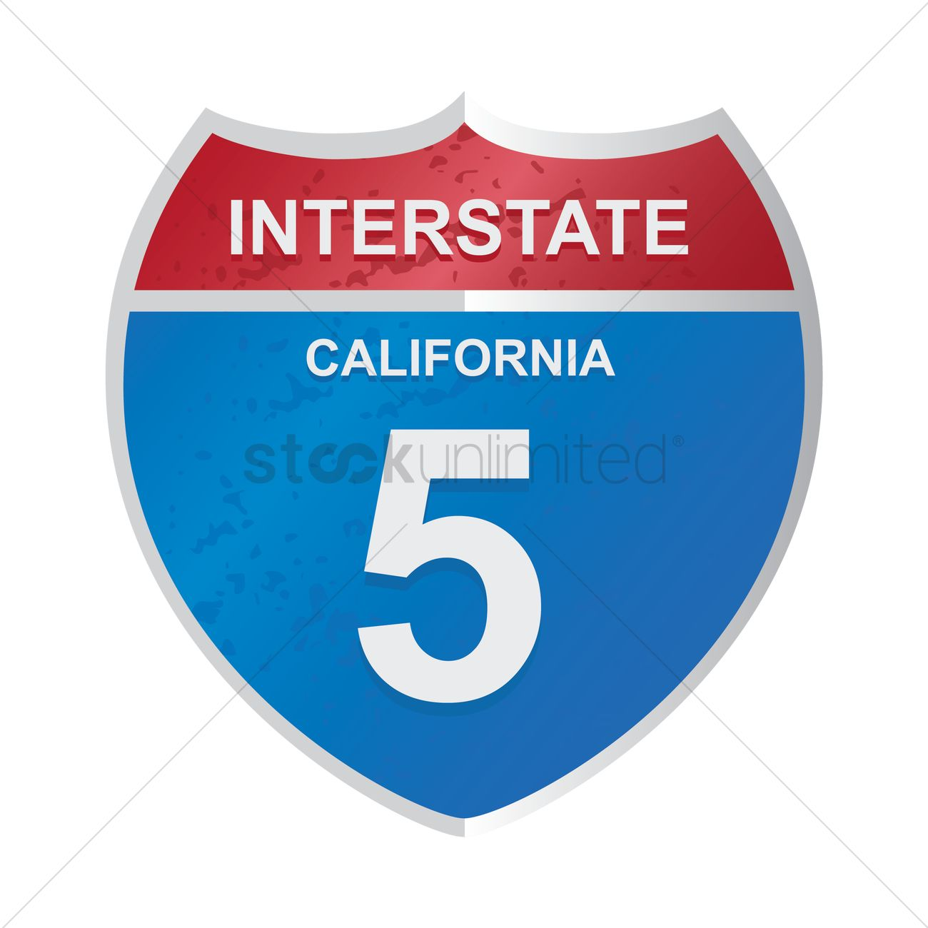 1300x1300 Interstate California 5 Sign Vector Image