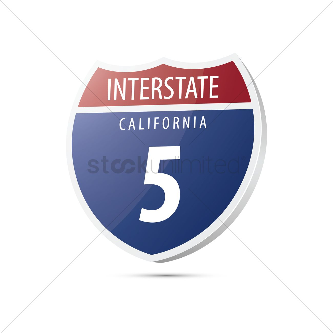 1300x1300 Interstate California Route Sign Vector Image