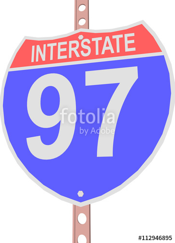 362x500 Interstate Highway 97 Road Sign In Stock Image And Royalty Free