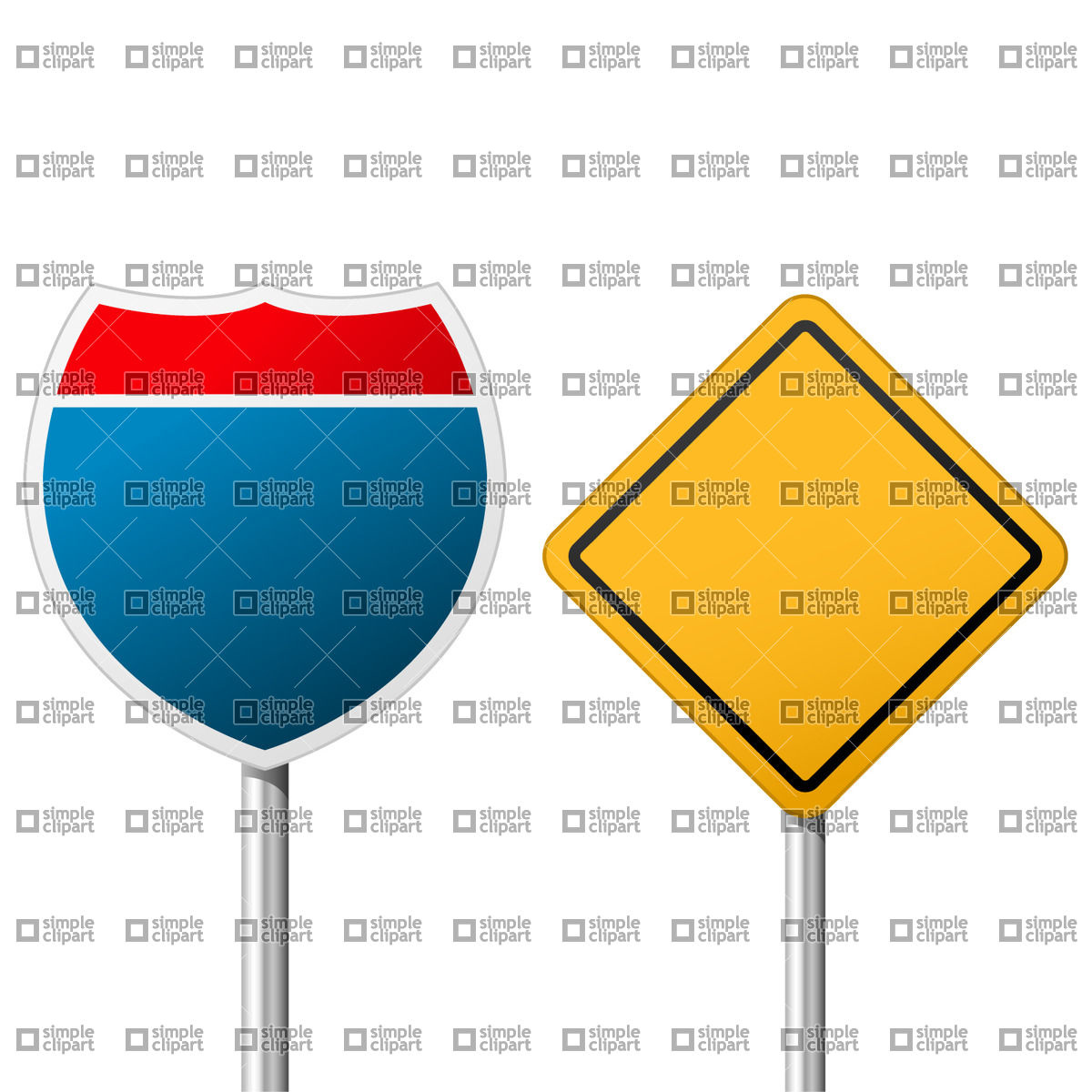 1200x1200 Interstate Road Sign Vector Image