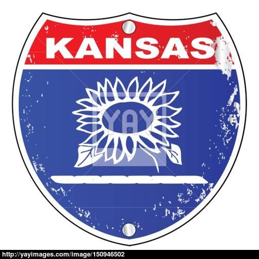 512x512 Kansas Interstate Sign Vector