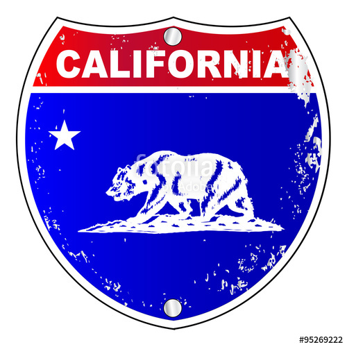 500x500 California Interstate Sign Stock Image And Royalty Free Vector