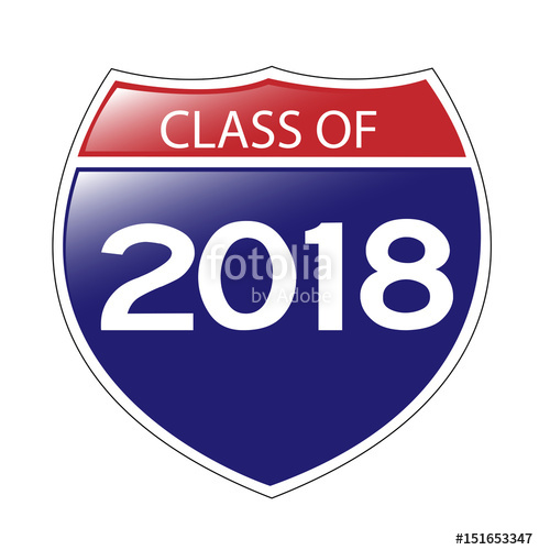 490x500 Class Of 2018 Interstate Sign Stock Image And Royalty Free Vector