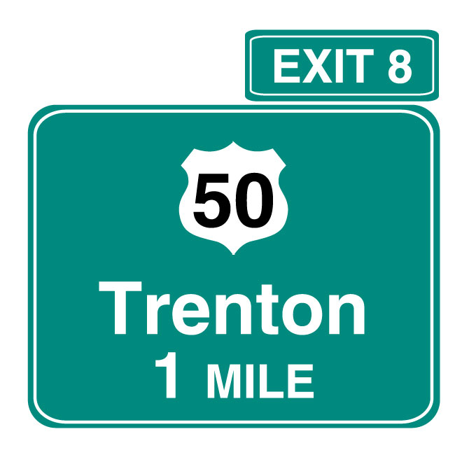 660x660 Exit Interstate Road Vector Sign