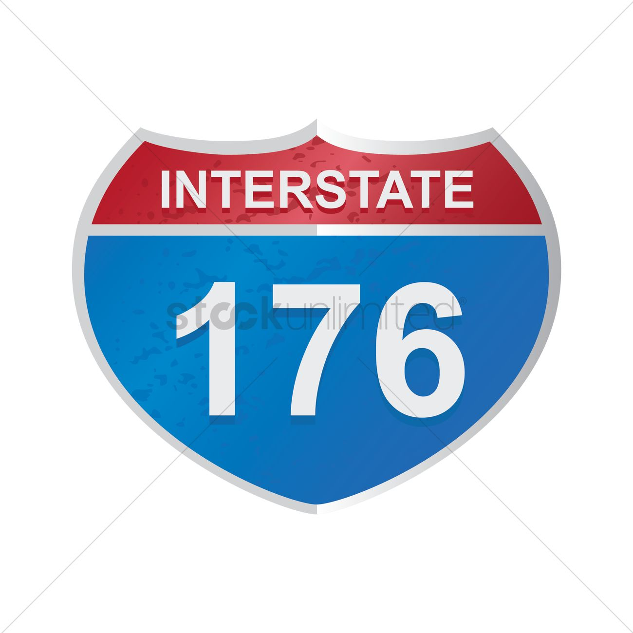 1300x1300 Interstate 176 Route Sign Vector Image