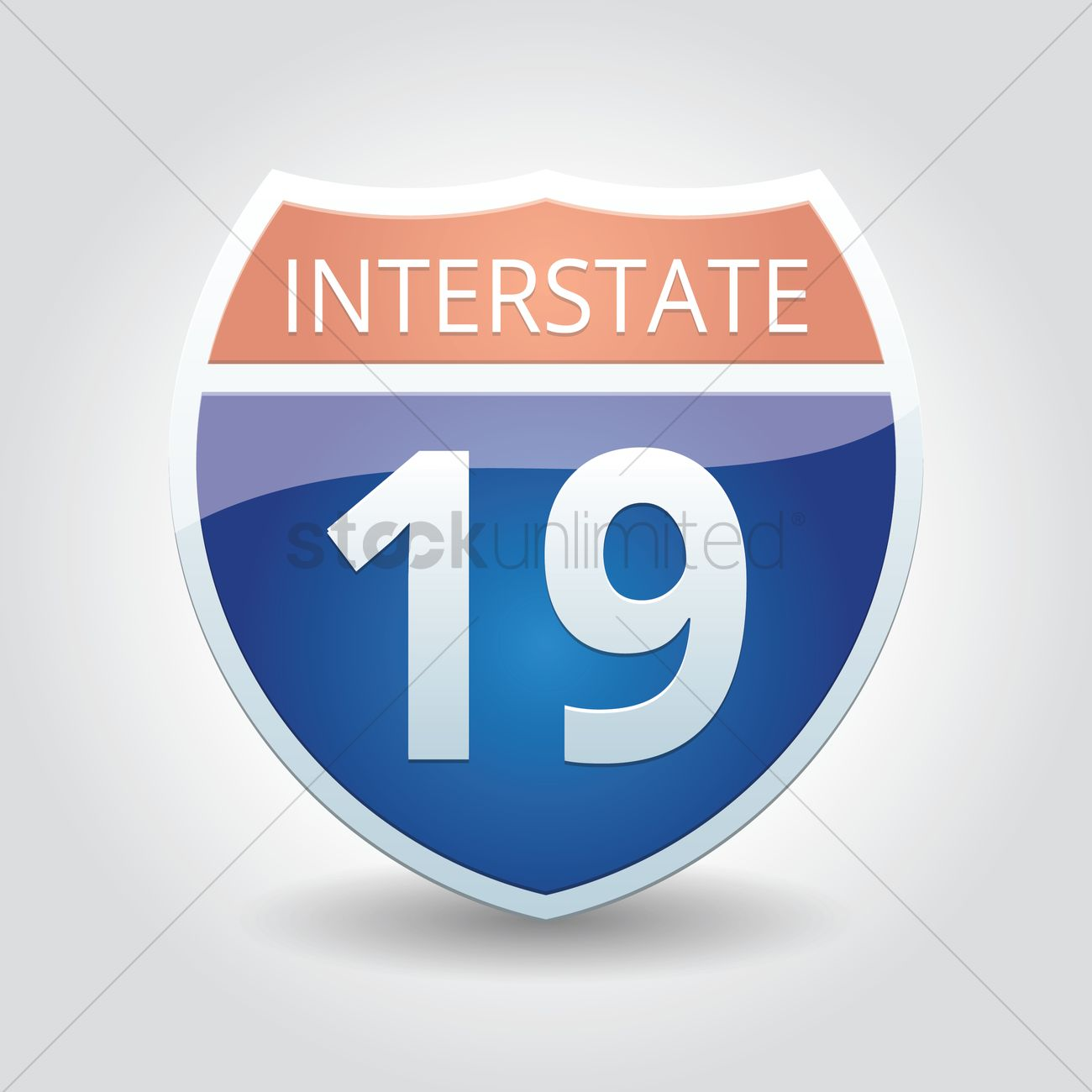 1300x1300 Interstate 19 Sign Vector Image