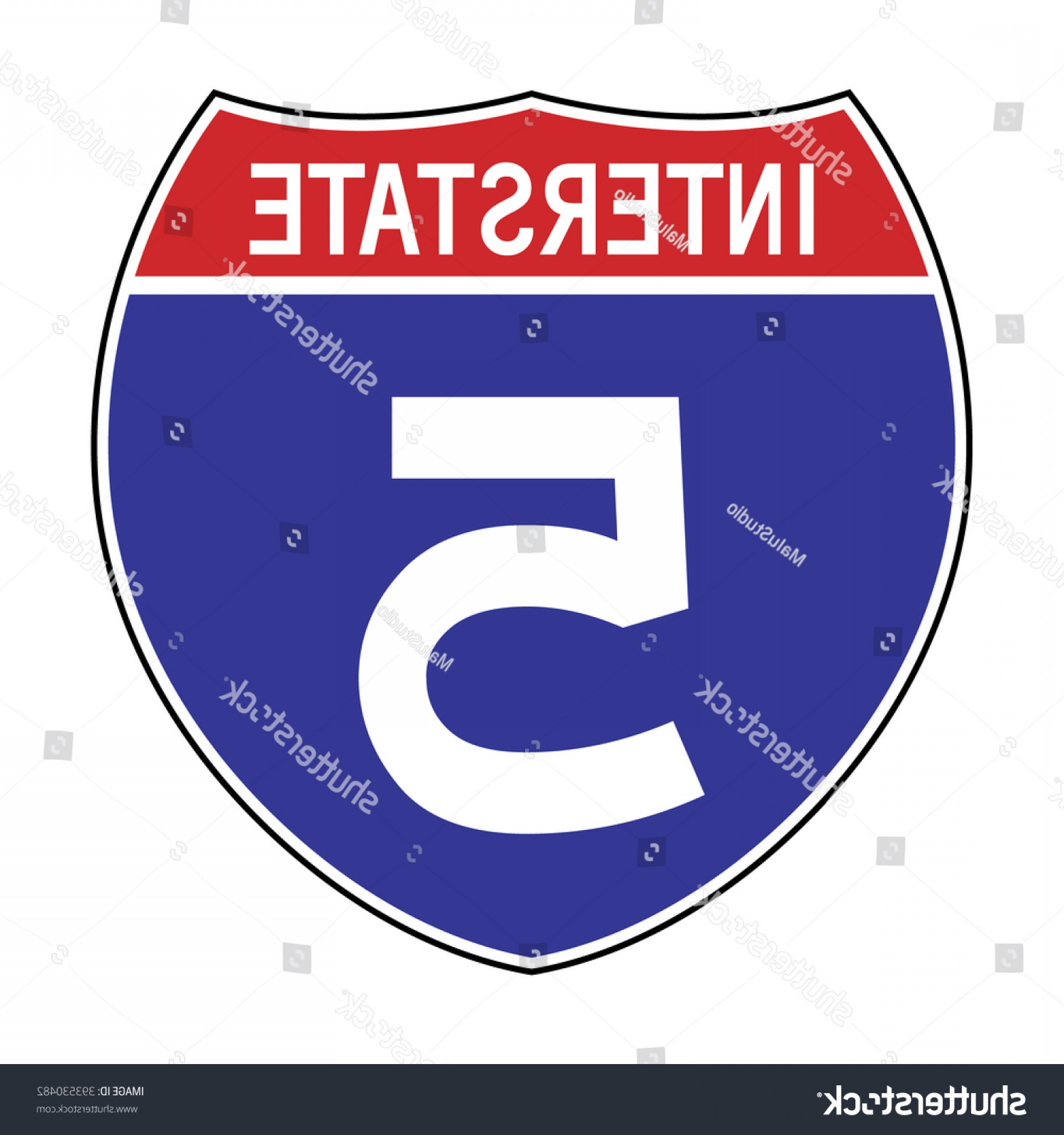 1800x1920 American Interstate Highway Sign Vector Illustration Shopatcloth
