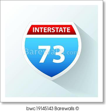 362x382 Art Print Of Interstate Vector Icon Barewalls Posters Amp Prints