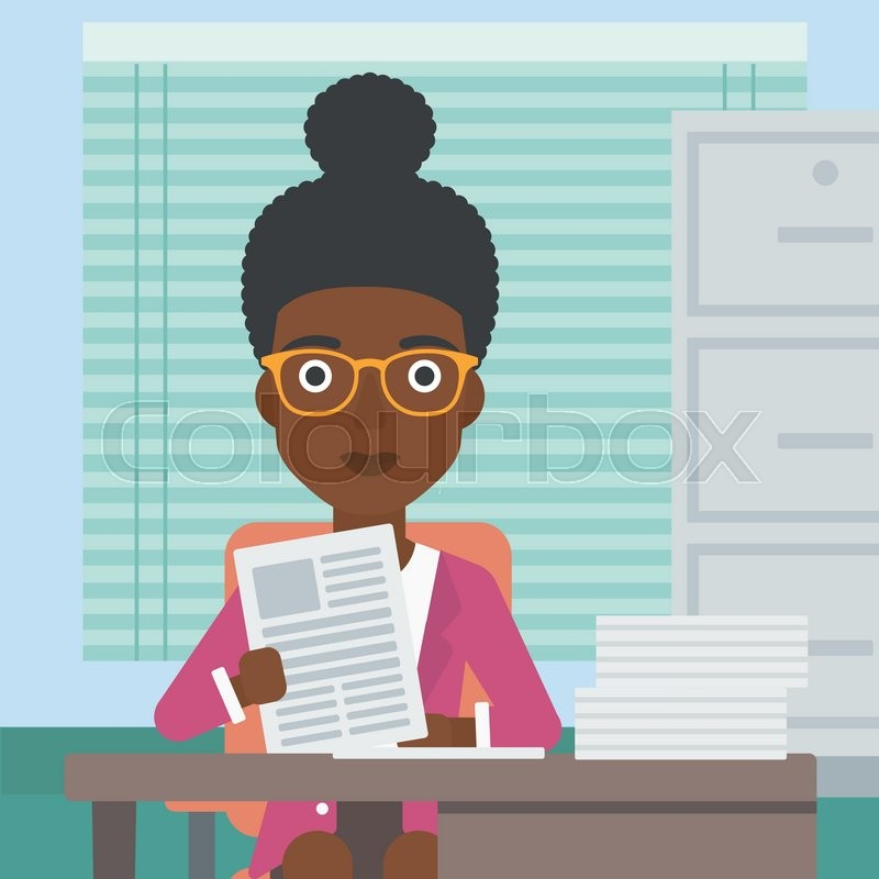 800x800 An African American Human Resources Manager Reading Application