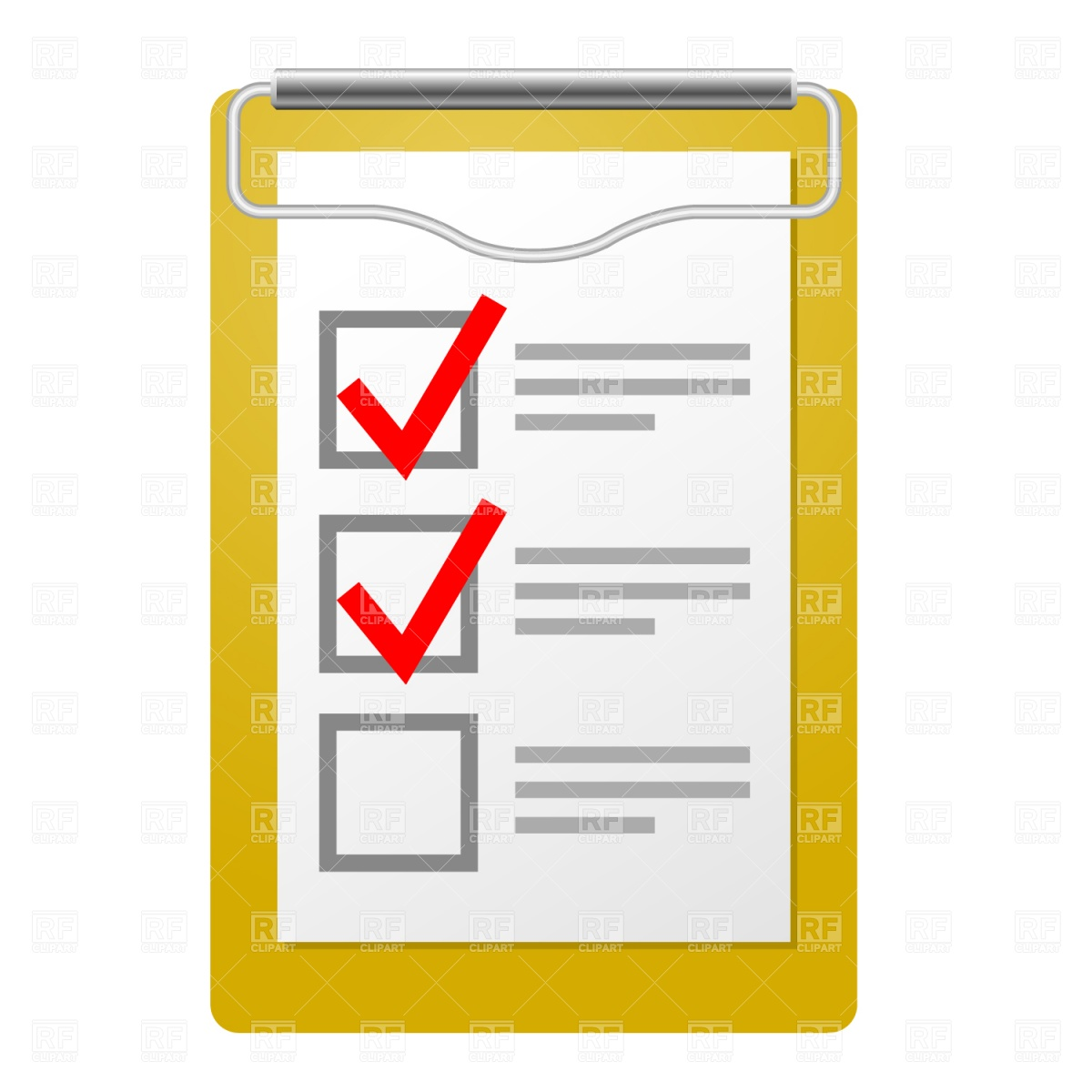 1200x1200 Clipboard With Checklist Vector Image Vector Artwork Of Objects