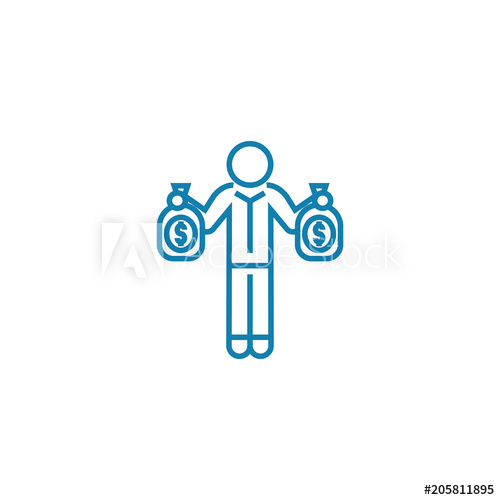 500x500 Offer By Investor Line Icon, Vector Illustration. Offer By