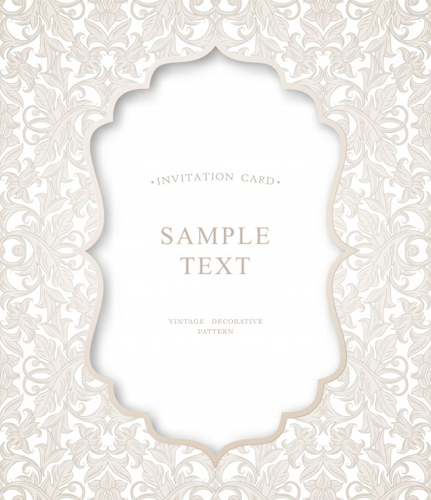 626x726 Invitation Card Vector Premium Download