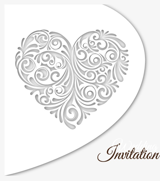 650x732 Vector Wedding Invitation Card, Wedding Invitation Card