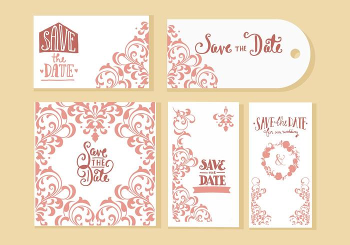 700x490 Wedding Invitation Cards Vector