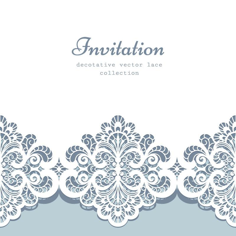 800x800 Elegant Lace Invitation Card Vector [Ai]