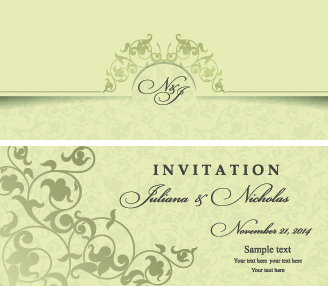 328x286 Wedding Invitation Vector Free Vector Download (2,757 Free Vector