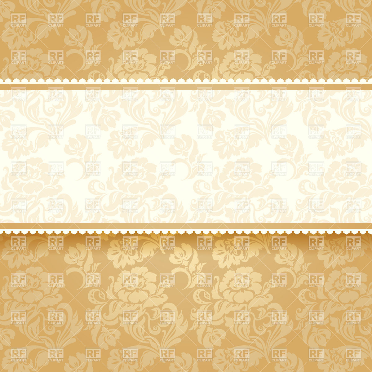 1200x1200 Golden Victorian Invitation Card Vector Image Vector Artwork Of