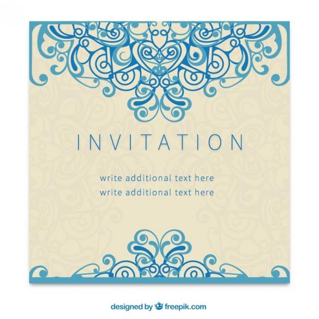 626x626 Retro Invitation In Ornamental Style Vector Free Download