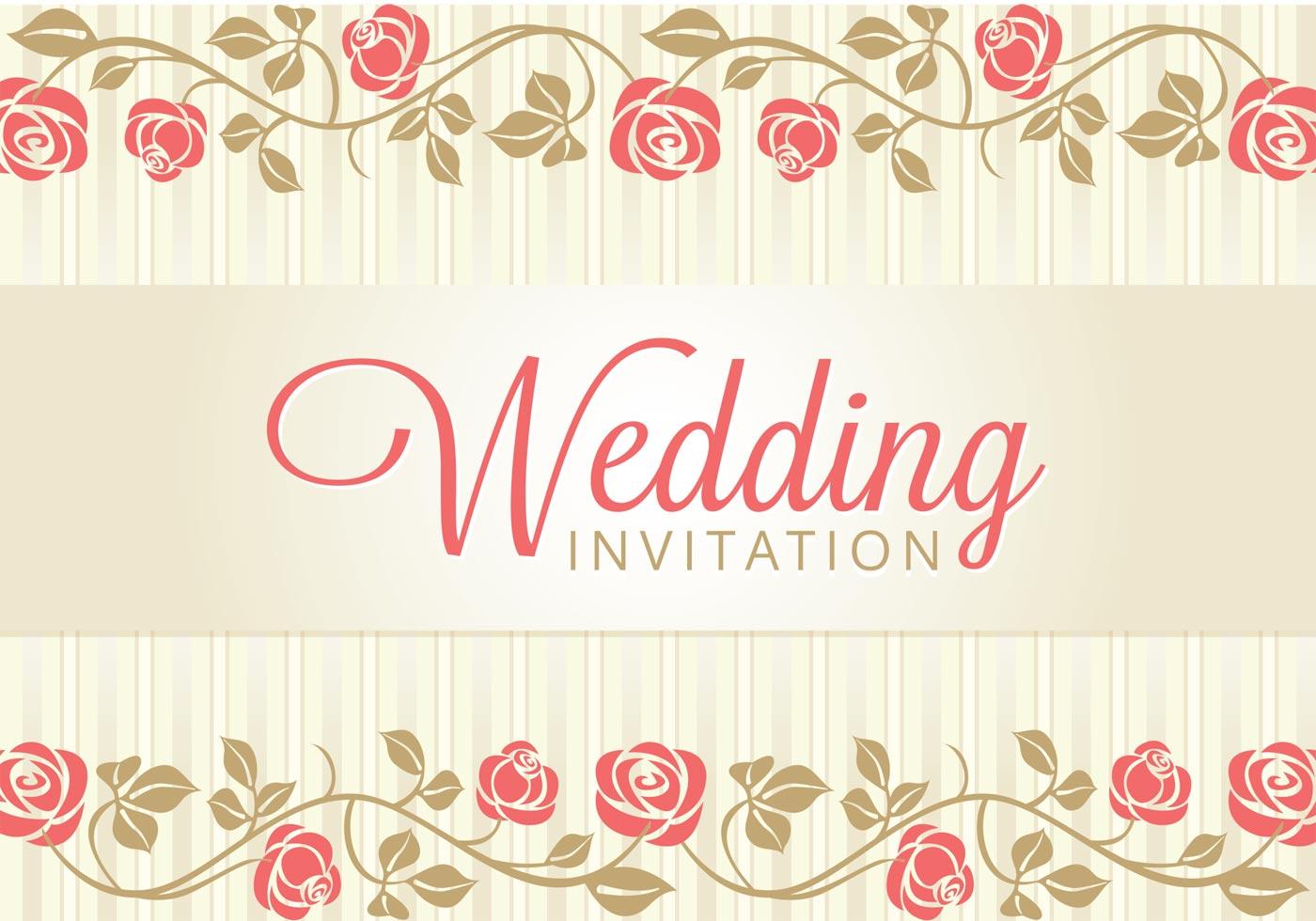 1400x980 Wedding Invitation Free Vector Art