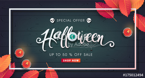 500x271 Happy Halloween Calligraphy. Banners Party Invitation.vector