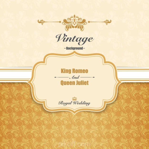 626x626 Ai] Royal Wedding Invitation Vector Free Download