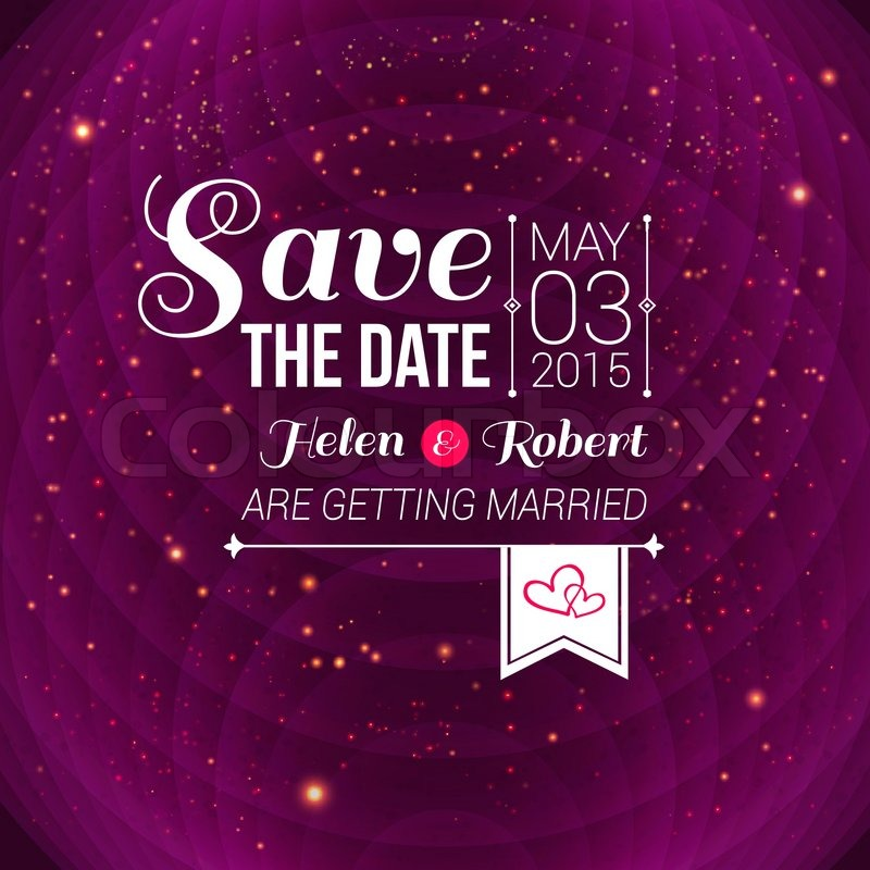 800x800 Save The Date For Personal Holiday Wedding Invitation Vector Image