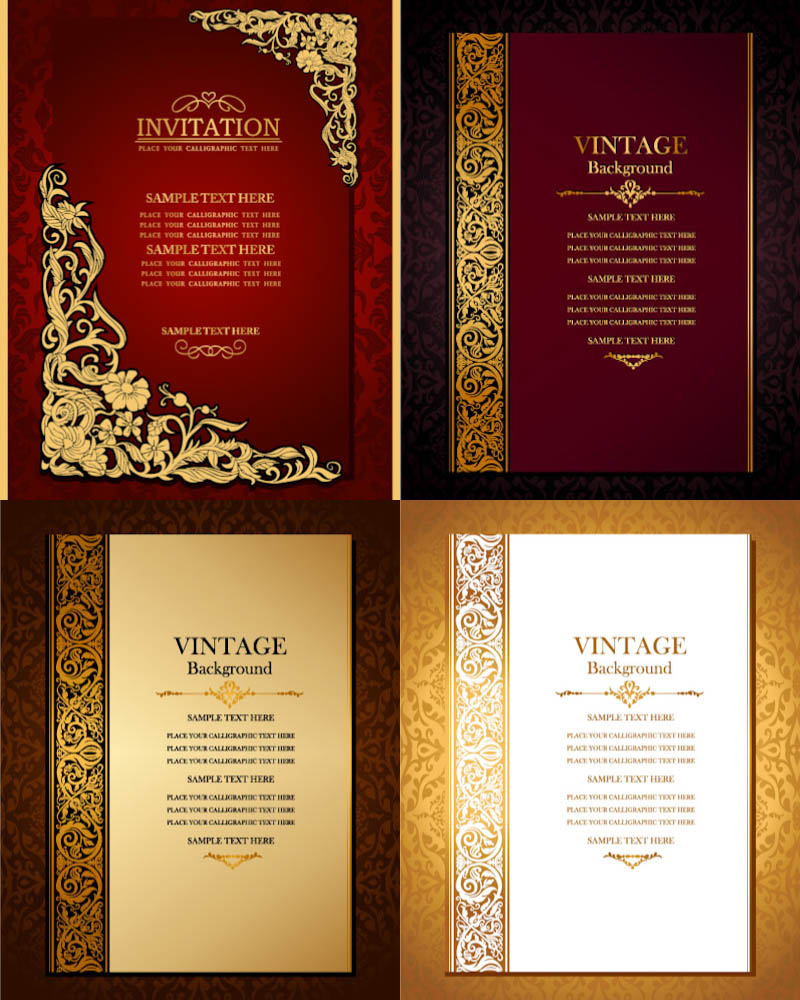 800x1000 Vintage Invitation Cover Vector Free Vectors Amp Images In Eps And