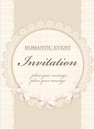 363x500 Classic Wedding Invitation Vectors
