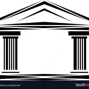 300x300 Roman Classical Arch Logo Facade Ionic Columns Vector Lazttweet