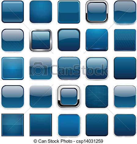448x470 Square Dark Blue App Icons. . Set Of Blank Dark Blue Square