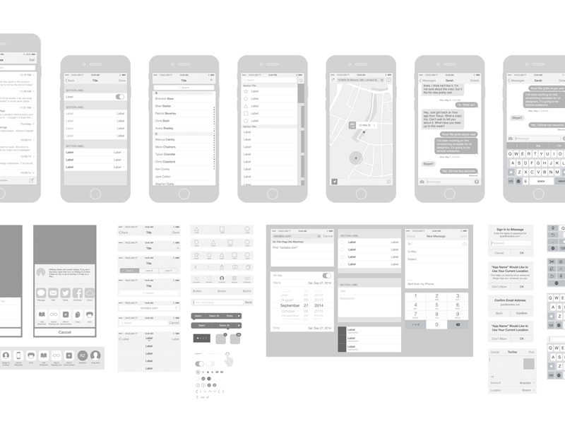800x600 Free Iphone 6 Vector Wireframing Toolkit (Ios 8) By Michelle