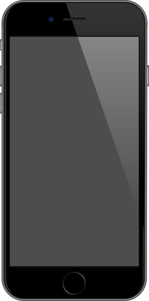 298x600 Iphone 6 Space Gray Vector Data For Free. Svg(Vector)public