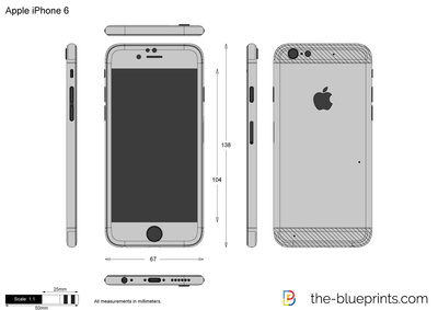 400x283 Apple Iphone 6 Vector Drawing