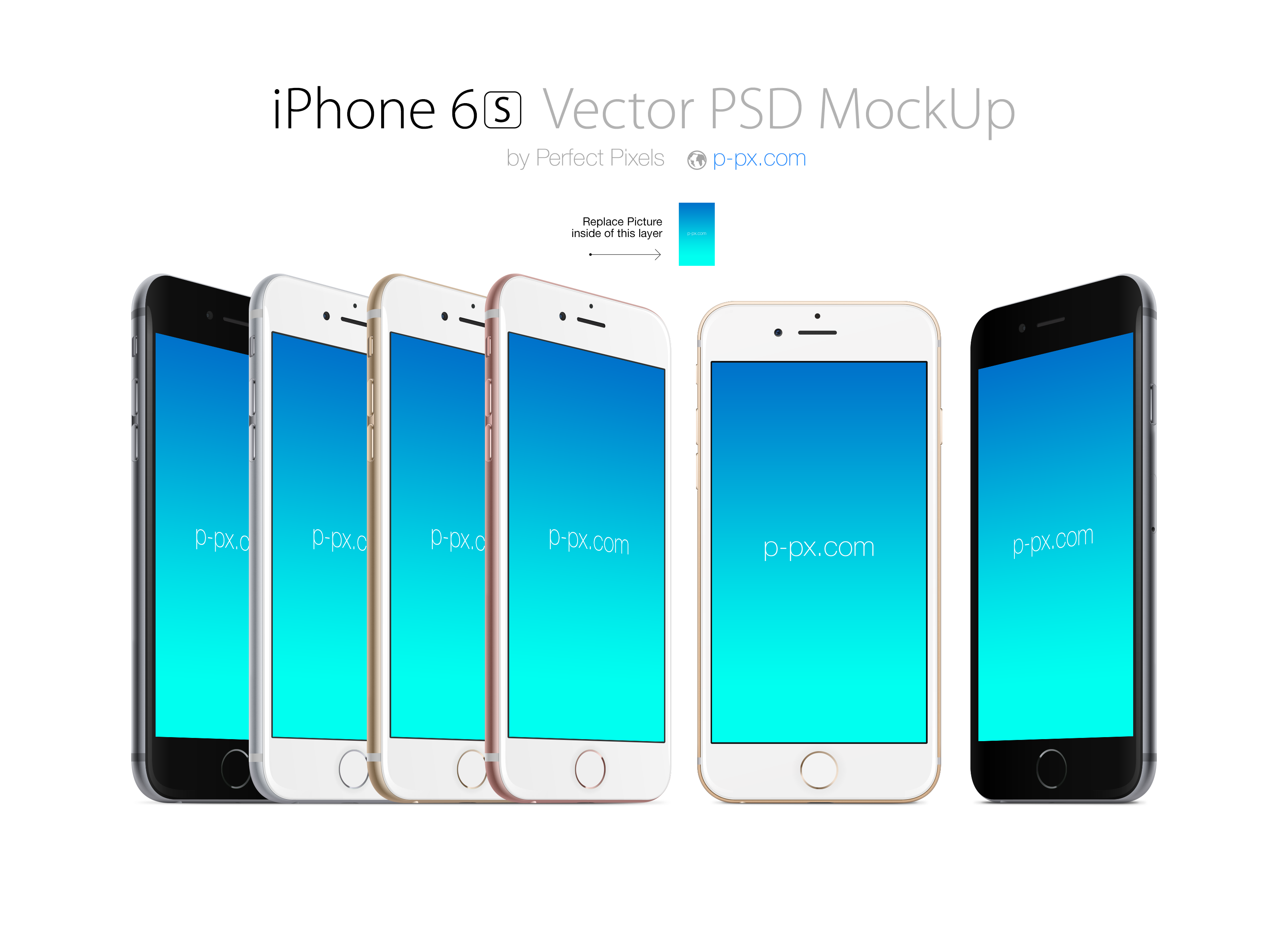 3220x2324 Iphone 6s Front And Angled Views Psd + Ai Mockup. Perfect Pixels