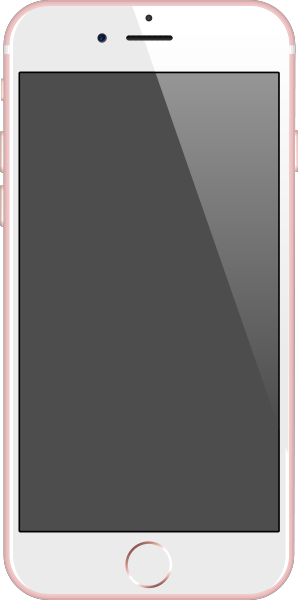 298x600 Iphone 6s Rose Gold Vector Data For Free. Svg(Vector)public