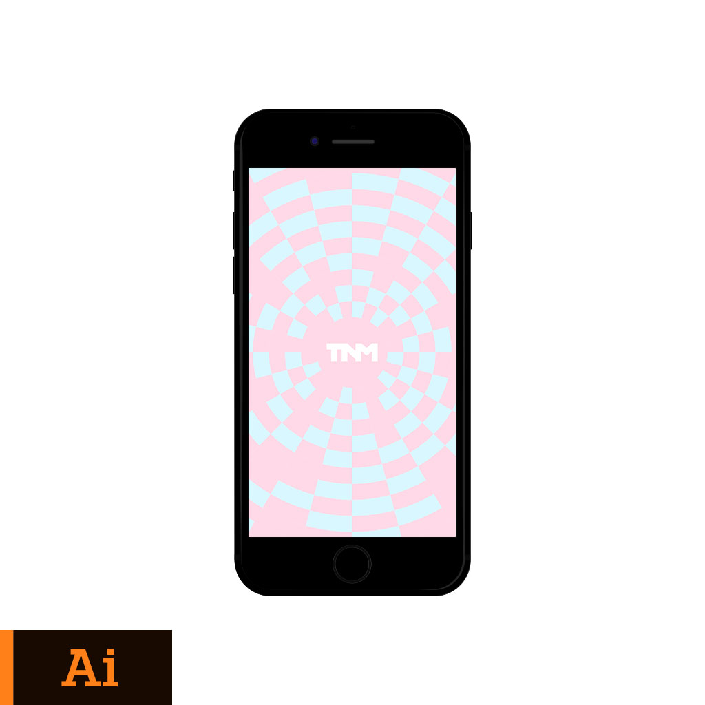 1024x1024 Flat Vector Mockup Illustrator Template For Apple Iphone 7 Jet Black