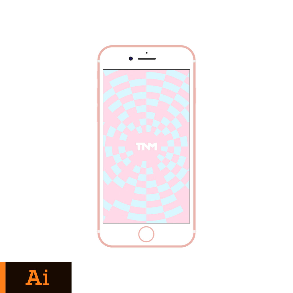 1024x1024 Flat Vector Mockup Illustrator Template For Apple Iphone 7 Rose Gold