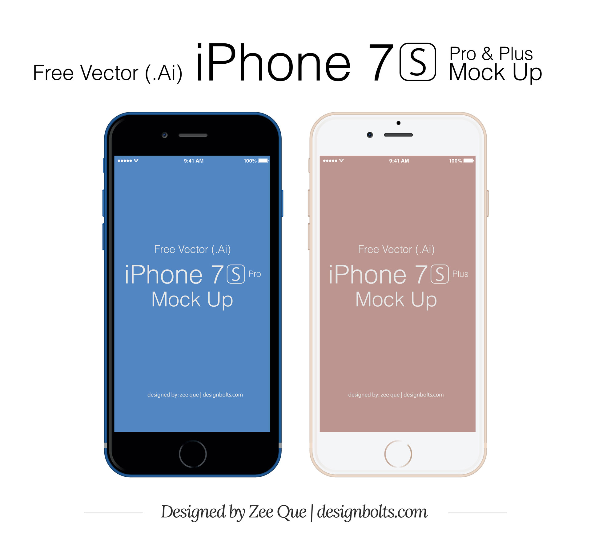 1920x1798 Free Vector Apple Iphone 7 S Plus Amp Pro Mockup In Ai Amp Eps